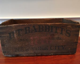 Vintage Wooden Crate Vintage Crate Vintage Wood Crate BT Babbitt's Crate Wooden Advertising Crate Vintage New York City Crate Box