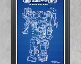 Toy Robot Poster, Toy Robot Patent, Toy Robot Print, Robot Art, Robot Decor, Robot Toy, Robot Gift, Retro Robot, Robot Wall Art Toy Art P333
