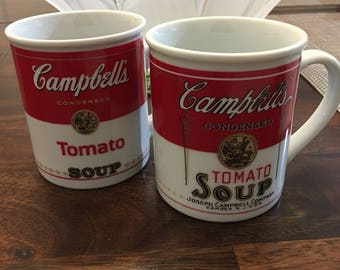 Vintage Campbells Tomato Soup Mug Set