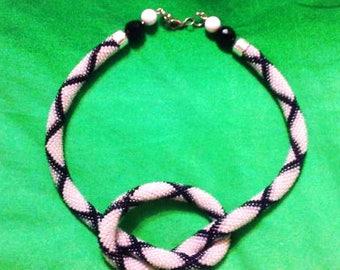 White Plait bead harness bead crochet rope S seed bead kit mosaic crochet luxury necklace office necklace white python rope beadwork necklac