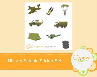 Military Sample Sticker Set, Military Stickers, Planner Stickers, Erin Condren Life Planner