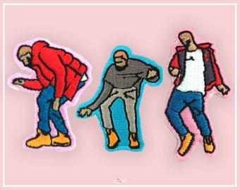Dancing Drake Patches, Stick-on patch, iron on patch, patches for jackets, tumblr patch, cute patches, punk patches, band patches