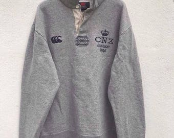 20% OFF Vintage Canterburry Pullover Canterburry Sweatshirt of New Zealand Sweatshirt Rugby CNZ team sz XL fit L