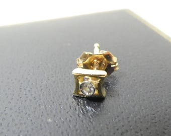 Single Diamond Earring Stud 18ct Gold