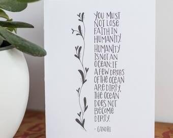 Gandhi Quote Card