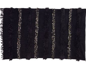 """79""""x47"""" Moroccan Wedding Blanket Handira, Hand Crafted by Berber Women from Morocco's High Atlas Mountains. BHN13"""