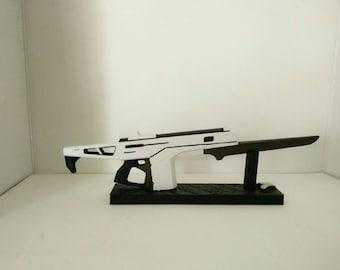 Customized Replica inspired in Monte Carlo, 3D printed gun 9.25 in.