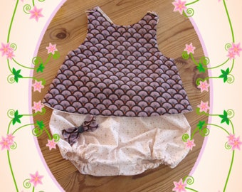 reversible top Halter and little matching bloomer set size 12 months
