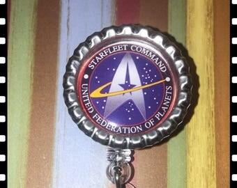 Star Trek Retractable Reel Name ID Badge Pull Lanyard