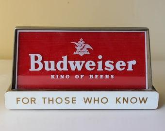 Vintage Budweiser Beer Sign
