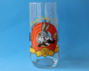 Bugs Bunny 50th Anniversary Warner Bros. Glass