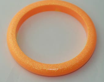 SMALL slightly imperfect orange bangle with a bit of yellow