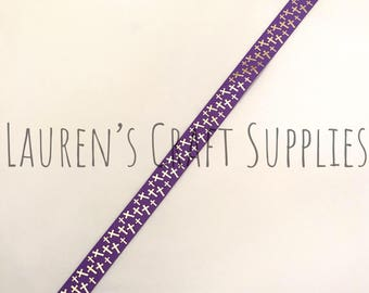 "Easter Ribbon | Cross Ribbon | Jesus Ribbon | Easter Grosgrain Ribbon | Hair Bow Ribbon | US Designer Ribbon | 7/8"" Ribbon | Grosgrain"