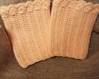 Crocheted boot cuffs, boot socks, hand crocheted boot accessories