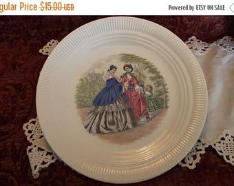 SALE Vintage Godey's Ladies Salem China Estate Collector Plate - Ash Lawn