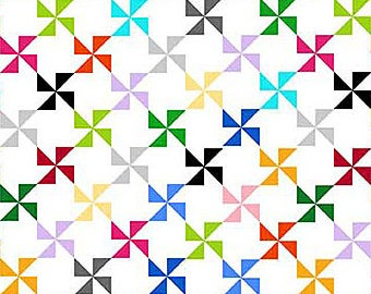 Northcott - Colorwork Concepts - 20812-10 - Pinwheel - Fabric by the Yard