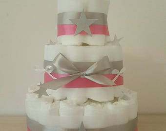 great for girl diaper cake star
