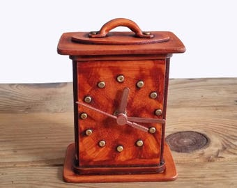 Rectangular Table Clocks, Decorative Wooden Clocks, Decorative Table Watch,  Wooden Desk Clocks,