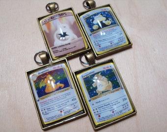 Pokemon Generation 1 Card Keychain/Pendant-COLORLESS TYPE