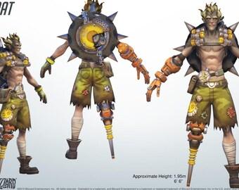 Junkrat wheel and grenade belts Overwatch cosplay props