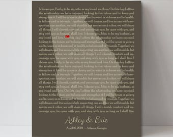 Custom Song Lyrics on Wooden Signs Customized Lyric Picture Frame Custom Lyric Picture Frame Wedding Gift for Bride and Groom