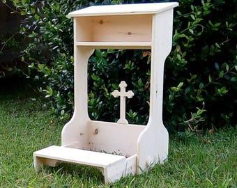 Prayer altar,kneeling prayer shrine,home altar,spiritual space  altar,folding altar
