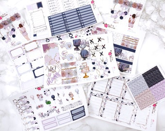 Cheers - FOIL | ECLP or Happy Planner | Weekly Kit | 130+ Planner Stickers | Birthday | Parties | Special Events | Champagne