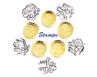 Creative Crystal Stamp/ Seal, for customer/letter/memo/ thank you card use