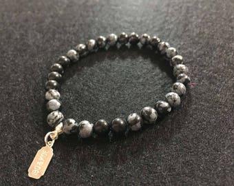 WOMEN bracelet - Obsidian-healing 6 mm - single model