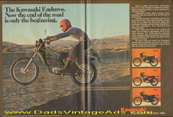 1977 Kawasaki Enduros 2-Page Ad #d77da03