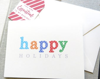 Holiday Cards - Perfect for Rodan and Fields - R and F Holiday Cards - Happy Holidays - Polka Dot