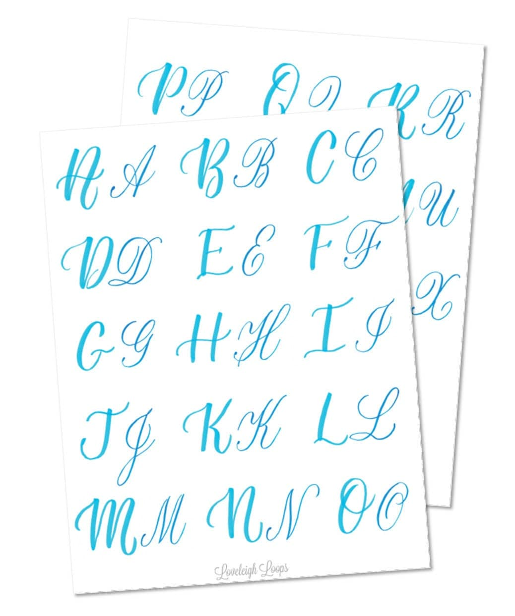 Brush lettering capitals worksheet