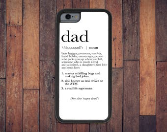Dad Definition Case, iPhone 6/6s/7 case - dad case, gift for dad, Father's Day gift, funny case, I love Dad, dad phone, word case