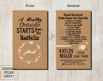 Boho Plexus - Printable Business Card Design - DIGITAL FILES ONLY - Custom - Plexus - Swag - Pink Drink - Products