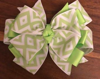 Lime Green Girls Hair Bow