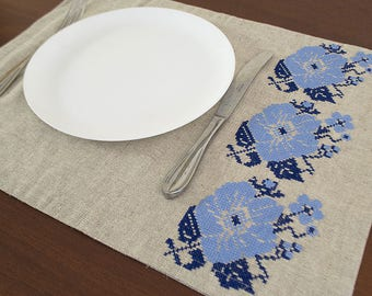 Linen placemats, natural linen placemats, natural placemat