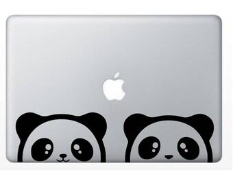 Cute Peek-A-Boo Panda Decal for Car or Laptop