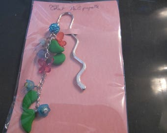 Spring bookmark Pearl blue