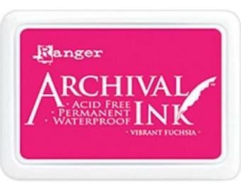 Ranger Archival Ink Vibrant Fuschia - Pink Ink - Archive Ink - Pink Archive Ink - Ranger Pink Ink - Permanent Pink Ink - Waterproof Ink