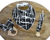 Monochrome Baby gift set, baby shower gift, unique baby gift