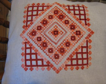Removable hardanger Cushion cover