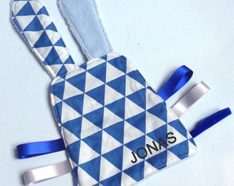 The toy, royal blue triangle, original birth gift, personalized gift, first name