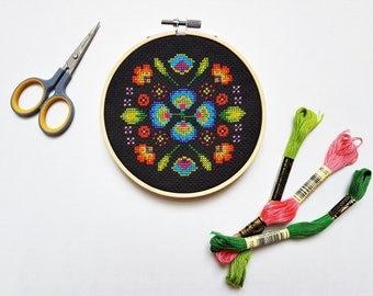 Modern Cross Stitch Pattern - Mini Polska Polish Folk Art