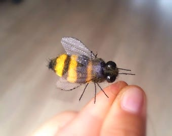 Honeybee Decoration Realistic Needle Felted Bee Ornament Gift For Lover Christmas