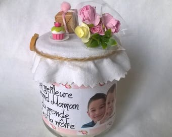Gift candle personalized grandmother for mother of the great mother's day personalise with your phrase photo
