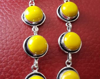 Yellow Jade Earrings!