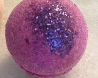 Sugar Plum Fairy Purple Glitter Bath Bomb/Christmas/Bath Fizzies/Lush Purple Bath Bomb Deep Purple
