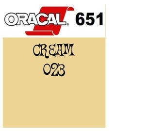 Oracal 651 Vinyl Cream (023) Adhesive Vinyl - Craft Vinyl - Outdoor Vinyl - Vinyl Sheets - Oracle 651