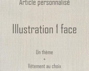 Custom clothing - Illustration 1 sided