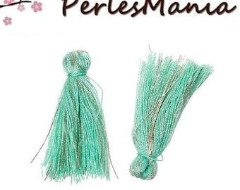 Green PASTEL thread with gold 25 mm S1164862 passementiere charm 20 tassels